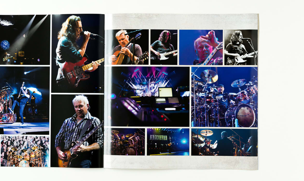 images from Rush 40 tour book