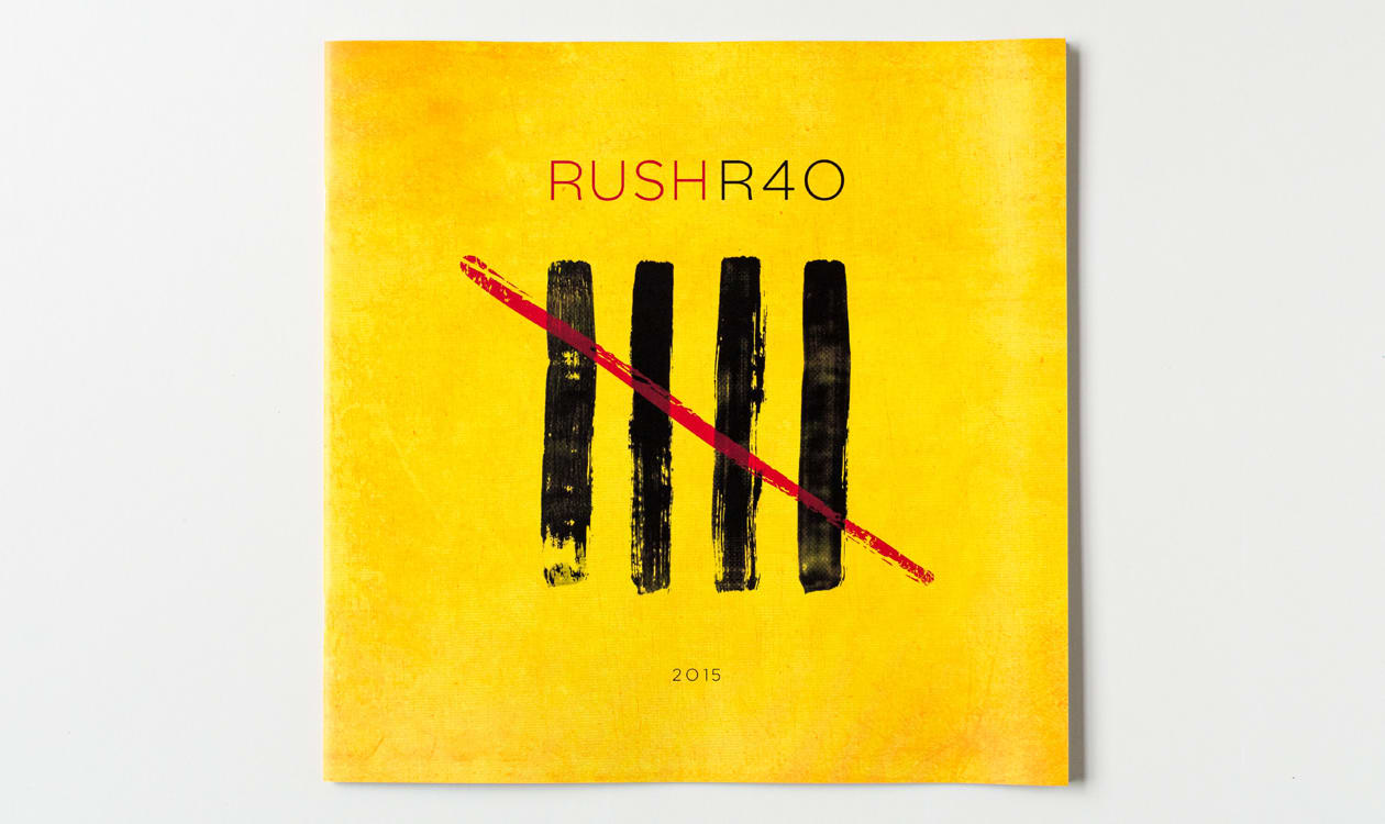 rush's printed tour book printing by battlefield press