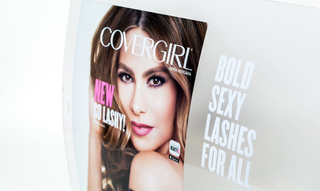 covergirl vinyl display header for covergirl