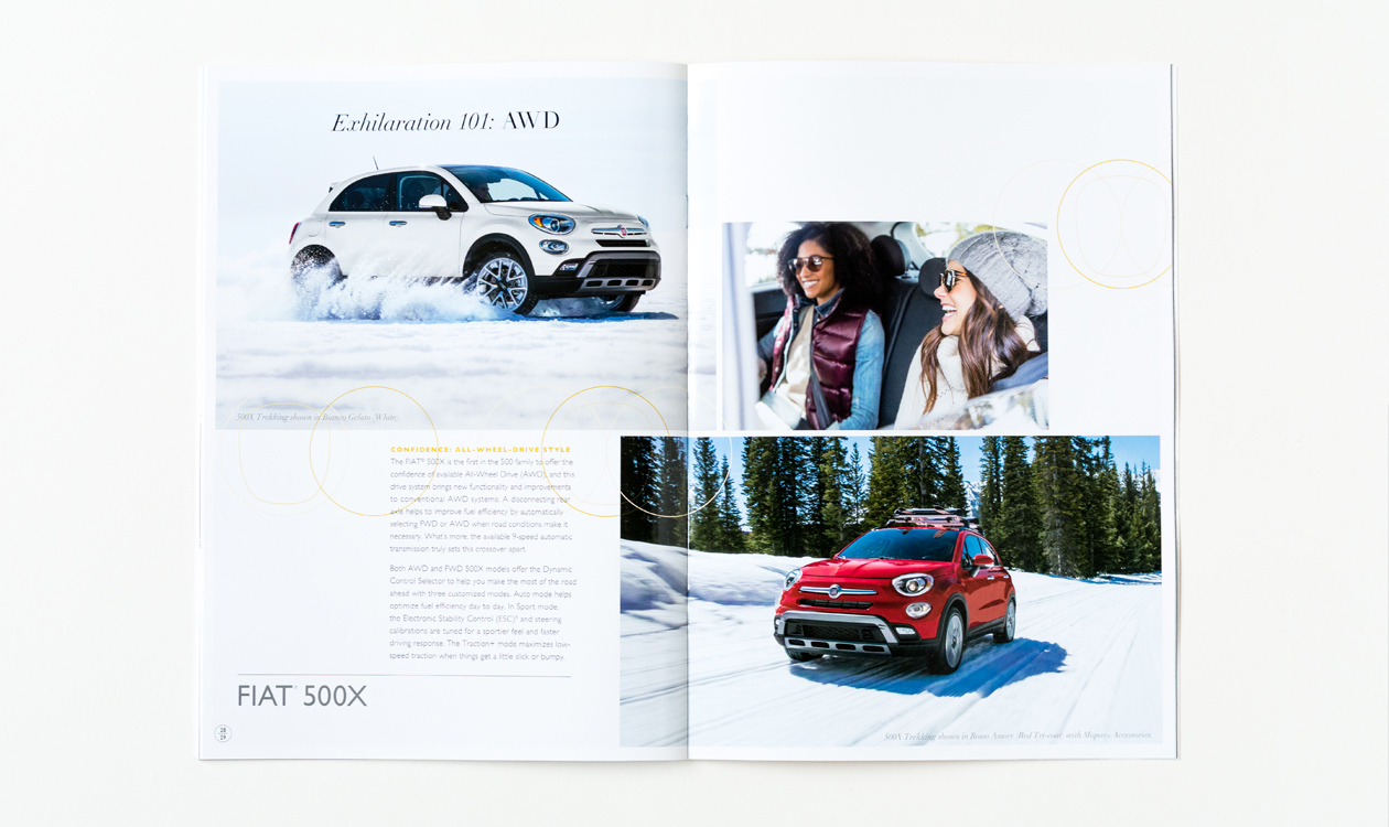fiat printed brochure open